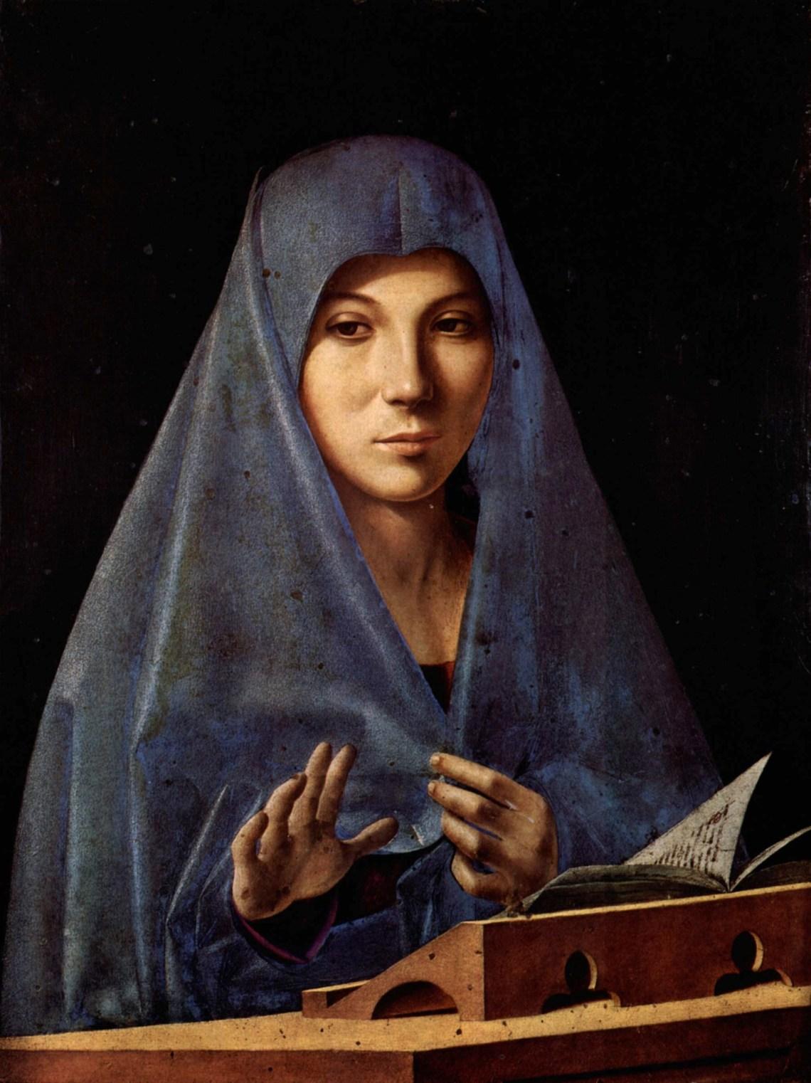 Il pARTicolare.  L'Annunciata di Antonello Da Messina