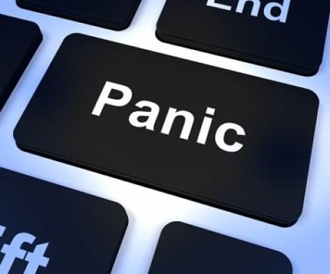 Panico - Panic en un teclado de ordendor