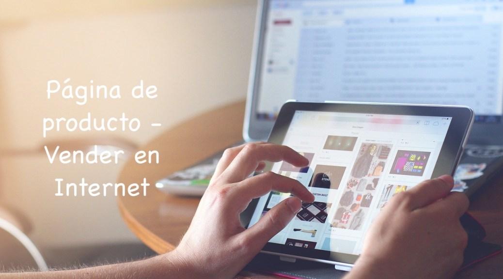 Página de producto - Vender en Internet