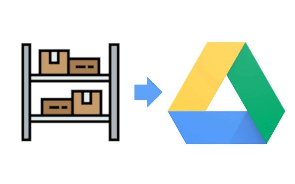 Organizzare un magazzino online con Google Drive