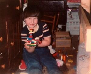 Clare plays Legos