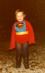 Clare as Super Girl