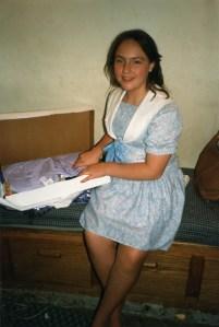 Clare's 8th birthday 1986