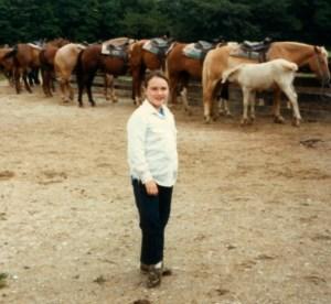Birthday horse ride 1986