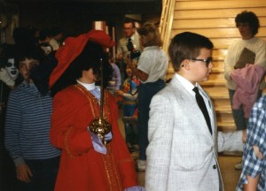Rob as Actuary Halloween 1988