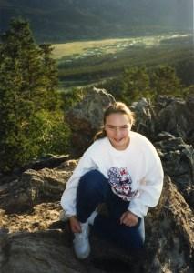 Clare in Colorado 1989