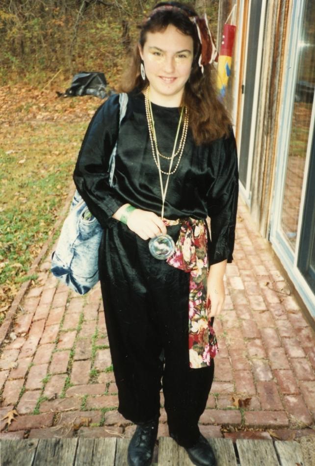 Clare as gypsy - Halloween 1990