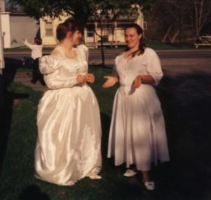 Clare and Caroline are Jr. bridesmaids 1994?