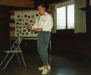 Rob imitates president Bush - 1991