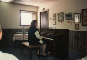Clare at piano recital 1991