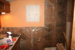 old drywall removed