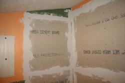 cement board taped