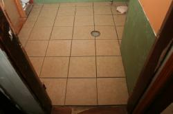 all the tile is laid