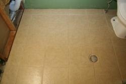 New tile and grout