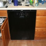 The new dishwasher. It also was not very hard to install, once we had stopped the leaks in the kitchen sink