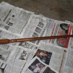 One stained replacement spindle for the stairway