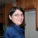 Ellen working in the kitchen