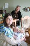 Grandma feeds Spencer