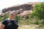 Clare on the Trading Post Trail at Red Rocks