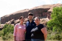 Sarah, Chris, and Clare at Red Rocks