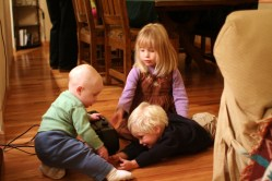 Spencer, Isabelle, and Connor playing together
