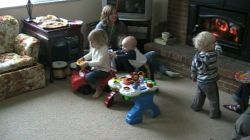 Spencer and his cousins playing