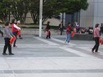 People dancing at Yerba Buena