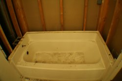 Tub surround out