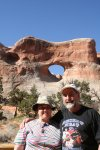 Clare and Dave at tunnel arch