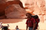 Rob at sand dune arch