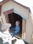Spencer likes the chicken house