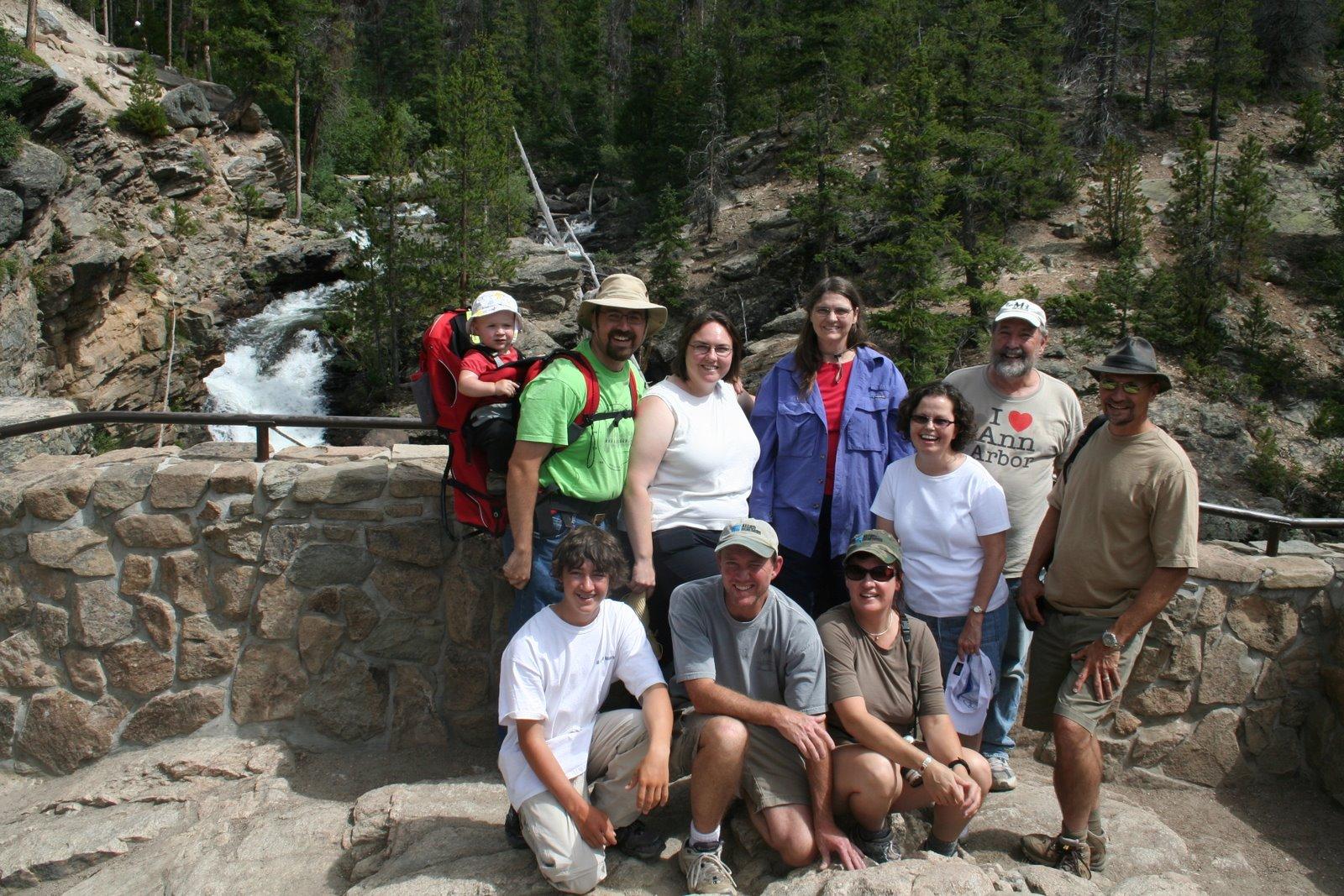 We hiked to Adams Falls near Grand Lake