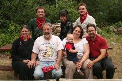 The Dibbles: top: Bret, Geebi, Drew; bottom: Ellen, Dave, Spencer, Clare, Rob