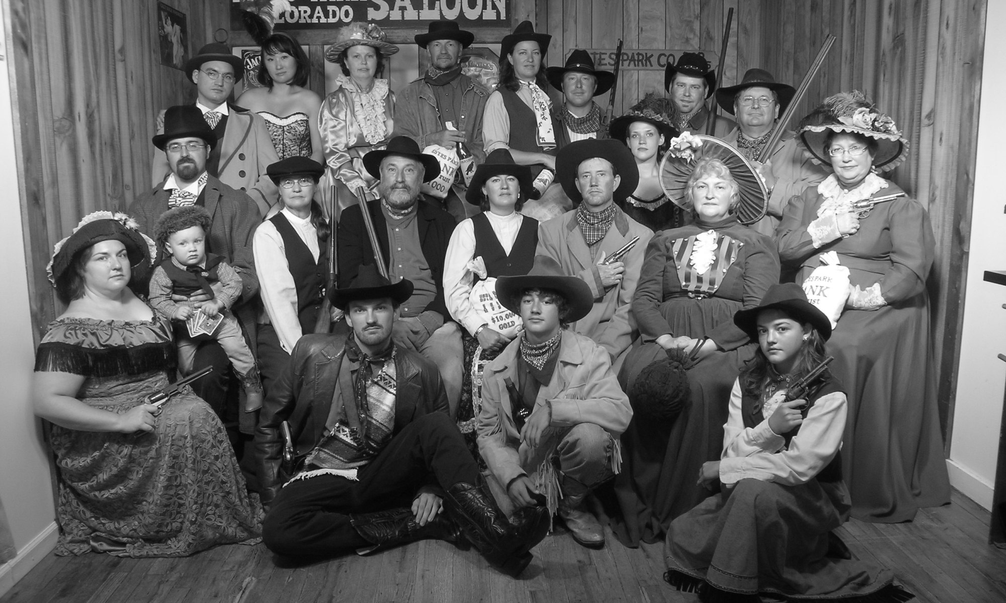 Old time photo from Estes Park of the family