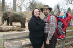 The Fedibbletys at the zoo (with elephants)