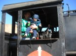 Dave and Spencer at the train museum