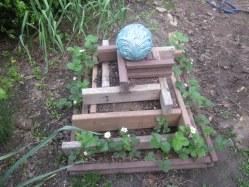 Strawberry pyramid in the Comisar's garden