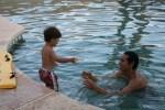 Tao and Rick swimming