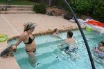 Playing in the pool