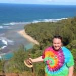 Clare on the Kalalau trail