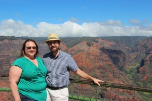 Clare and Rob at Waimea Canyon lookout