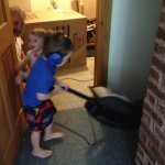 Spencer vacuums (with earplugs)