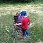 Kids figure out the well