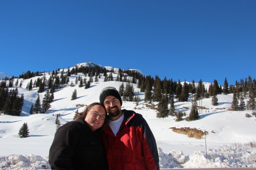 Clare and Rob on the million dollar highway