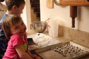 Meg is having fun making peppernuts