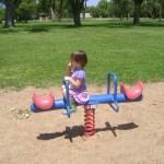 Meg at a playground