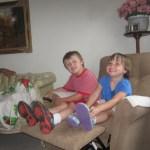 Meg and Spencer like the recliner