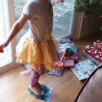 Meg likes the presents from Santa