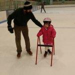 Meg is a brave ice skater