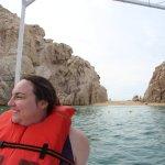 Clare enjoying the boat ride